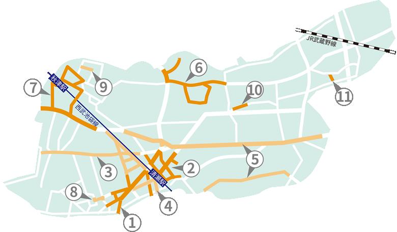 清瀬タウンマップ
